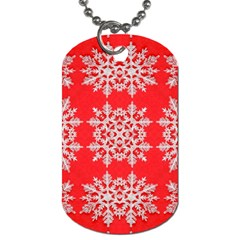 Background For Scrapbooking Or Other Stylized Snowflakes Dog Tag (Two Sides)