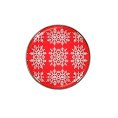 Background For Scrapbooking Or Other Stylized Snowflakes Hat Clip Ball Marker (4 pack)