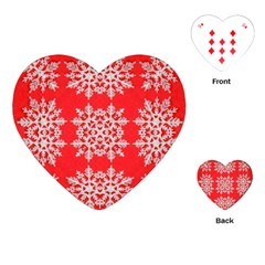 Background For Scrapbooking Or Other Stylized Snowflakes Playing Cards (Heart)