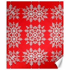Background For Scrapbooking Or Other Stylized Snowflakes Canvas 8  x 10