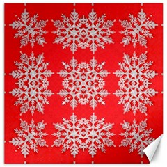 Background For Scrapbooking Or Other Stylized Snowflakes Canvas 20  X 20