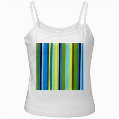 Simple Lines Rainbow Color Blue Green Yellow Black Ladies Camisoles