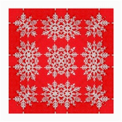 Background For Scrapbooking Or Other Stylized Snowflakes Medium Glasses Cloth (2-Side)