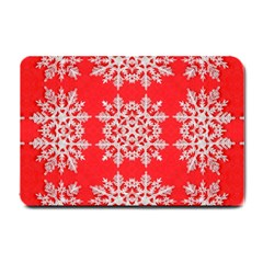 Background For Scrapbooking Or Other Stylized Snowflakes Small Doormat