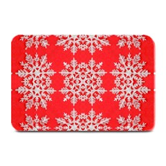 Background For Scrapbooking Or Other Stylized Snowflakes Plate Mats