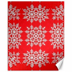 Background For Scrapbooking Or Other Stylized Snowflakes Canvas 11  x 14