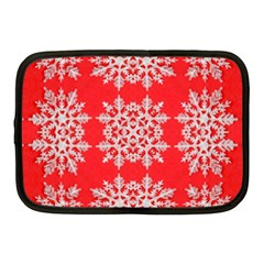 Background For Scrapbooking Or Other Stylized Snowflakes Netbook Case (Medium)