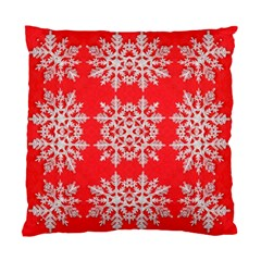 Background For Scrapbooking Or Other Stylized Snowflakes Standard Cushion Case (Two Sides)