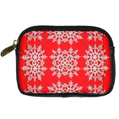 Background For Scrapbooking Or Other Stylized Snowflakes Digital Camera Cases