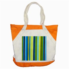 Simple Lines Rainbow Color Blue Green Yellow Black Accent Tote Bag