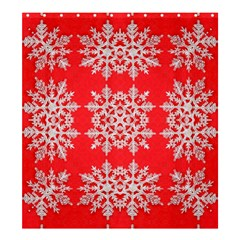 Background For Scrapbooking Or Other Stylized Snowflakes Shower Curtain 66  x 72  (Large)