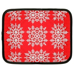 Background For Scrapbooking Or Other Stylized Snowflakes Netbook Case (XL)