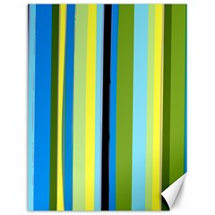 Simple Lines Rainbow Color Blue Green Yellow Black Canvas 12  X 16