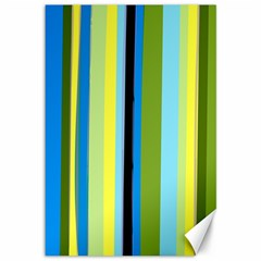 Simple Lines Rainbow Color Blue Green Yellow Black Canvas 12  X 18