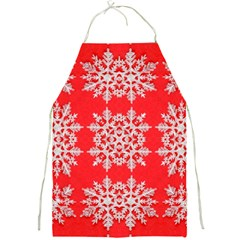 Background For Scrapbooking Or Other Stylized Snowflakes Full Print Aprons