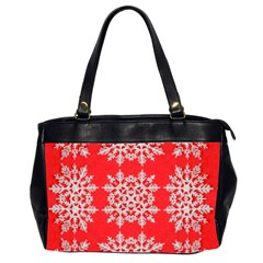 Background For Scrapbooking Or Other Stylized Snowflakes Office Handbags (2 Sides)