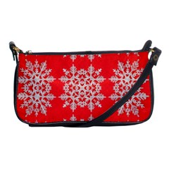 Background For Scrapbooking Or Other Stylized Snowflakes Shoulder Clutch Bags