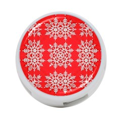 Background For Scrapbooking Or Other Stylized Snowflakes 4 Port Usb Hub (one Side)