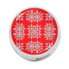 Background For Scrapbooking Or Other Stylized Snowflakes 4-Port USB Hub (Two Sides)