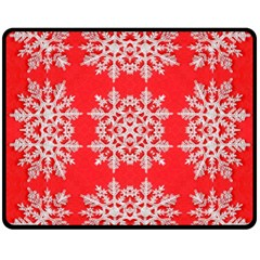 Background For Scrapbooking Or Other Stylized Snowflakes Fleece Blanket (Medium)