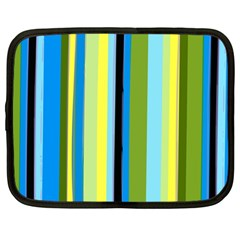 Simple Lines Rainbow Color Blue Green Yellow Black Netbook Case (large)
