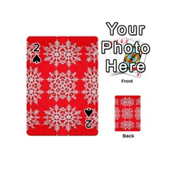 Background For Scrapbooking Or Other Stylized Snowflakes Playing Cards 54 (Mini)