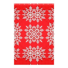 Background For Scrapbooking Or Other Stylized Snowflakes Shower Curtain 48  x 72  (Small)