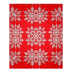 Background For Scrapbooking Or Other Stylized Snowflakes Shower Curtain 60  x 72  (Medium)