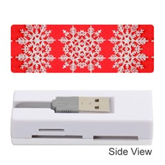 Background For Scrapbooking Or Other Stylized Snowflakes Memory Card Reader (stick)
