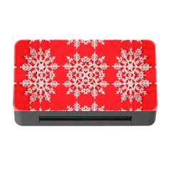 Background For Scrapbooking Or Other Stylized Snowflakes Memory Card Reader With Cf
