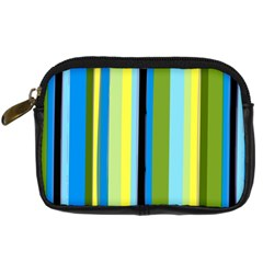 Simple Lines Rainbow Color Blue Green Yellow Black Digital Camera Cases