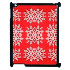 Background For Scrapbooking Or Other Stylized Snowflakes Apple iPad 2 Case (Black)