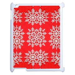 Background For Scrapbooking Or Other Stylized Snowflakes Apple iPad 2 Case (White)