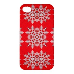 Background For Scrapbooking Or Other Stylized Snowflakes Apple iPhone 4/4S Hardshell Case