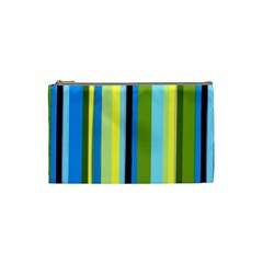 Simple Lines Rainbow Color Blue Green Yellow Black Cosmetic Bag (small)