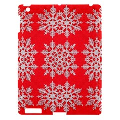 Background For Scrapbooking Or Other Stylized Snowflakes Apple iPad 3/4 Hardshell Case