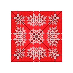 Background For Scrapbooking Or Other Stylized Snowflakes Acrylic Tangram Puzzle (4  x 4 )