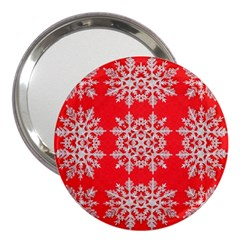 Background For Scrapbooking Or Other Stylized Snowflakes 3  Handbag Mirrors