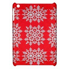 Background For Scrapbooking Or Other Stylized Snowflakes Apple iPad Mini Hardshell Case