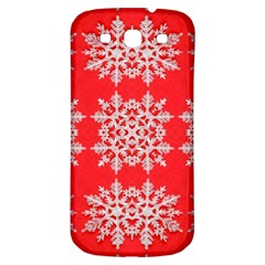 Background For Scrapbooking Or Other Stylized Snowflakes Samsung Galaxy S3 S Iii Classic Hardshell Back Case