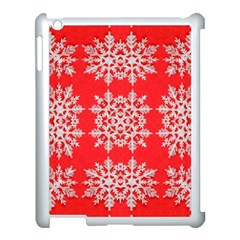Background For Scrapbooking Or Other Stylized Snowflakes Apple iPad 3/4 Case (White)