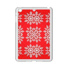 Background For Scrapbooking Or Other Stylized Snowflakes iPad Mini 2 Enamel Coated Cases