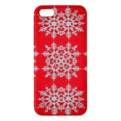Background For Scrapbooking Or Other Stylized Snowflakes Apple Iphone 5 Premium Hardshell Case