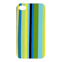 Simple Lines Rainbow Color Blue Green Yellow Black Apple Iphone 4/4s Hardshell Case