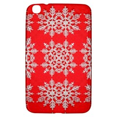 Background For Scrapbooking Or Other Stylized Snowflakes Samsung Galaxy Tab 3 (8 ) T3100 Hardshell Case