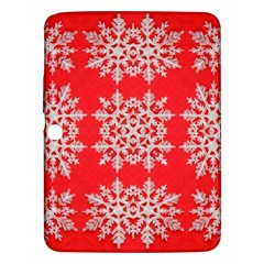Background For Scrapbooking Or Other Stylized Snowflakes Samsung Galaxy Tab 3 (10 1 ) P5200 Hardshell Case