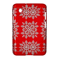 Background For Scrapbooking Or Other Stylized Snowflakes Samsung Galaxy Tab 2 (7 ) P3100 Hardshell Case