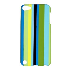 Simple Lines Rainbow Color Blue Green Yellow Black Apple Ipod Touch 5 Hardshell Case