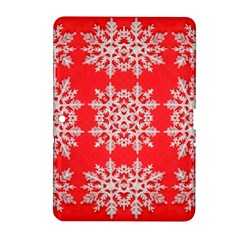 Background For Scrapbooking Or Other Stylized Snowflakes Samsung Galaxy Tab 2 (10 1 ) P5100 Hardshell Case