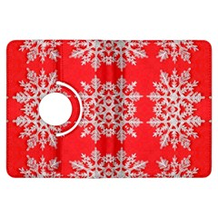 Background For Scrapbooking Or Other Stylized Snowflakes Kindle Fire HDX Flip 360 Case
